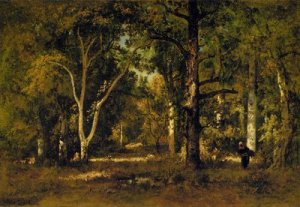 narcisse-diaz-de-la-pena-gathering-wood-under-the-trees
